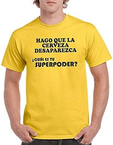 Camisetas divertidas Parent Hago Que La Cerveza desaparezca ¿Cuál ES Tu Superpoder? - para Hombre Camiseta: Amazon.es: Ropa y accesorios