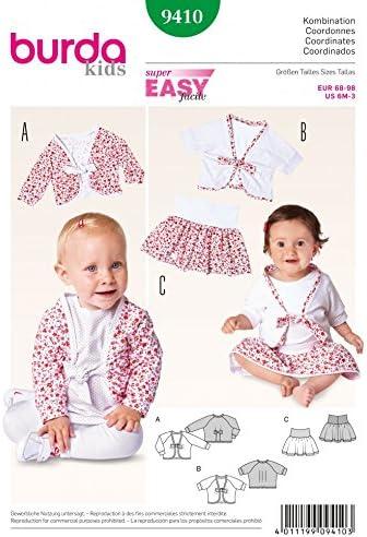 Burda patrón de costura para ropa de niños fácil 9410 - de costura ...