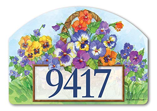 - Yard DeSigns Studio M Pansy Lane Spring Summer Floral Decorative Address Marker Yard Sign Magnet, Made in USA, Superior Weather Durability, 14 x 10 Inches