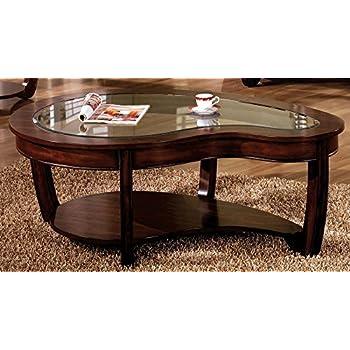 Furniture Of America CM4336C Crystal Falls Dark Cherry Coffee Table