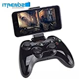 iPhone Game Controller, iTrendz [Apple MFI Certified] Wireless Bluetooth Gamepad Game Controller Compatible With iPhone 6, iPhone 5s/5/4, iPod Touch, iPad Air 2, iPad Air, iPad Mini, Macbook (Black)