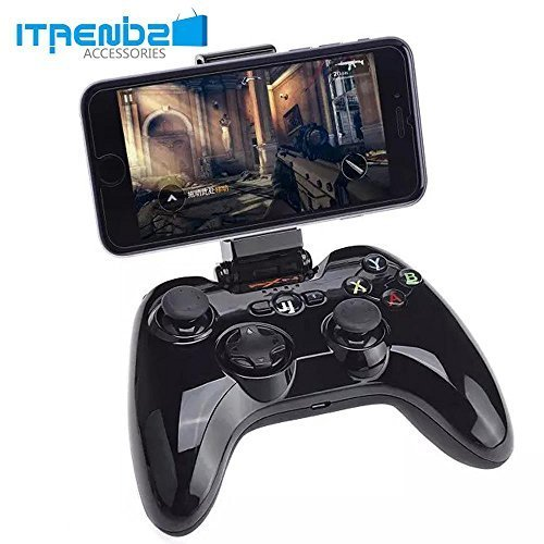 iPhone Game Controller, iTrendz [Apple MFI Certified] Wireless Bluetooth Gamepad Game Controller Compatible With iPhone 6, iPhone 5s/5/4, iPod Touch, iPad Air 2, iPad Air, iPad Mini, Macbook (Black) by itrendz