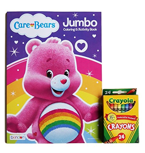 Care Bears ''Cheer Bear'' Jumbo Coloring and Activity Book with Crayola Crayons (Bears Figurines Care)