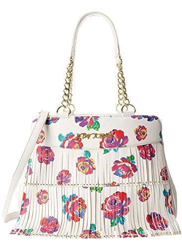 Betsey Johnson On The Fringe Satchel Top Handle Bag, Floral, One Size
