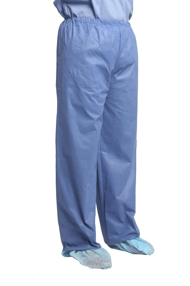 MediChoice Scrub Pants, Elastic Waist, SMS, Large, Blue (Case of 48) by MediChoice
