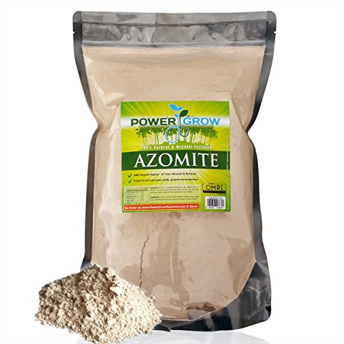 AZOMITE - 5 Pound Bulk Bag of Certified Organic Trace Mineral Fertilizer by PowerGrow (Minerals Plant)