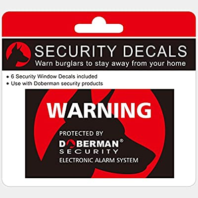 Doberman Security SE-0409 Security Stickers (Red)