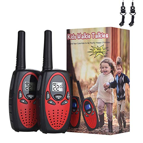 Camping Gear Outdoor Accessories - [2 Packs]Walkie Talkies for Kids, DealKits Long Range(9000feet) 22 Channels Walkie Talkies Hiking Gear Indoor Outdoor Camping Accessories Toys for 3 4 5 6 7 8 9 Year Old Boys Girls