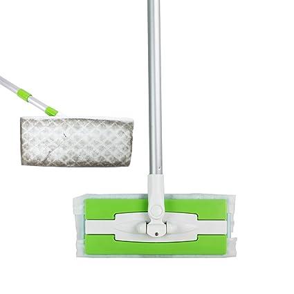 Estática piso plumero limpieza fregona uso con toallitas húmedas o secas verde