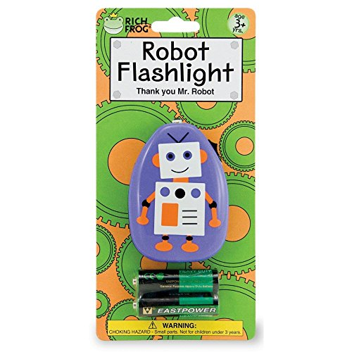 Rich Frog Children's Robot Flashlight with Batteries