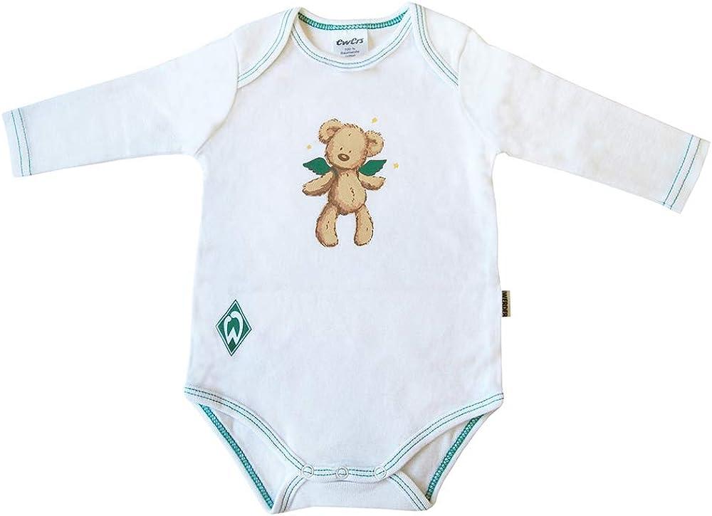 Ewers Werder Bremen Baby Body Langarm-Body Weiss mit Motiv f/ür M/ädchen und Jungen 100/% Baumwolle