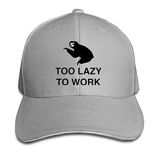 VHGJKGIN Too Lazy to Work Sandwich Cap Baseball Hat Cap