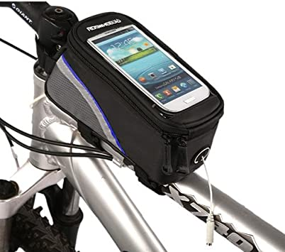 Waterproof Cycling Bike Bicycle Front Frame Pannier Tube Bag For Smart Phone