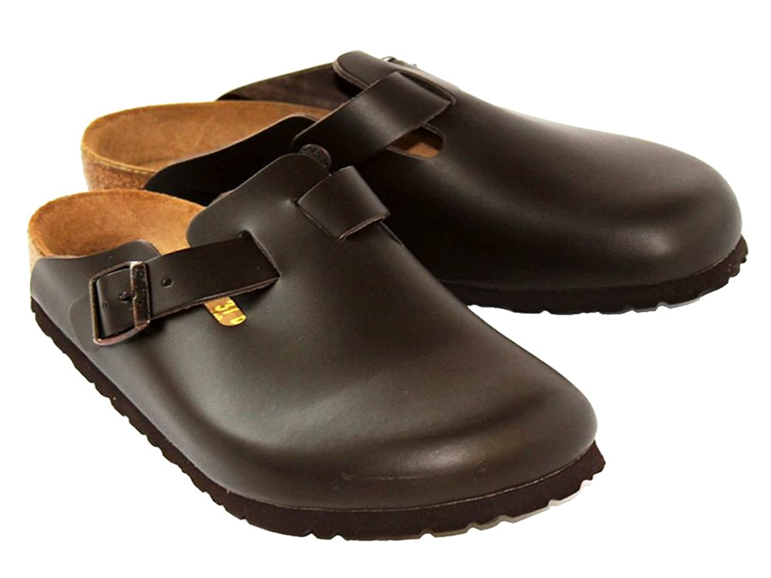 Birkenstock Boston Unisex Clog in Natural Dark Brown Classic Oiled Leather