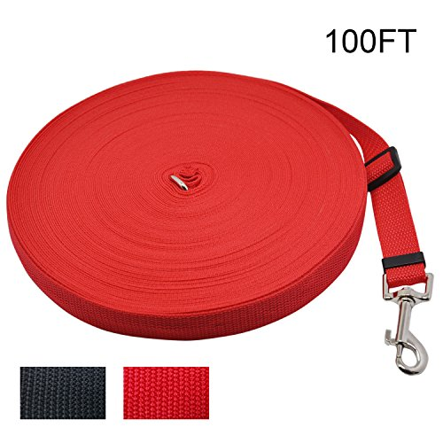 - WETONG Pet Supply Dog/Puppy obedience Recall Training Agillity Lead-15ft 30ft 50ft 100ft 164ft Dog Training Lead/Leash for Training,Camping or Backyard with Medium and Larger Dogs