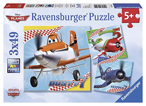 Ravensburger Disney Planes: Dusty and Friends 3 x 49-Piece Jigsaw Puzzle for Kids – Every Piece is Unique, Pieces Fit Together Perfectly