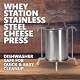 Whey Station Stainless Steel Cheese Press