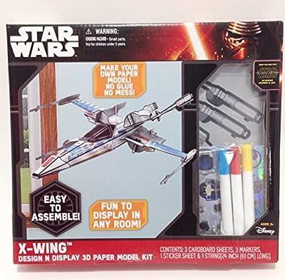Star Wars 3-D Paper Model Kit X-Wing