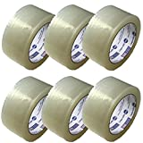 Tag-A-Room Heavy Duty Packaging Tape, Clear Packing Tape Rolls (6), 2 inch x 55 Yards, Moving Supplies