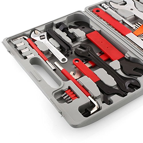 Deckey Bicycle Repair Tool Kit,48 Pcs Multi Functional Bicycle Maintenance Tools with Handy Bag