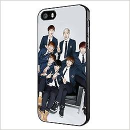 best authentic 1dea5 28fbd Amazon.com: Bangtan Boys BTS for iPhone Case (iPhone 5c black ...