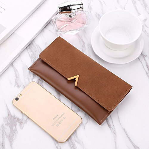 Amazon.com: Gold Happy 2018 New Female Wallet PU Leather Women Wallets Ladies Long Design Hasp Zipper Purses Clutch Change Coin Card Holders Carteras: Baby