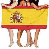 raikay Unisex Spain Flag CustomPrinted Personalised Custom Bath Towels 100% Polyester,Superfine Fiber Super Absorbent,for Home/Bathrooms/Pool/Gym (31'' 51'')