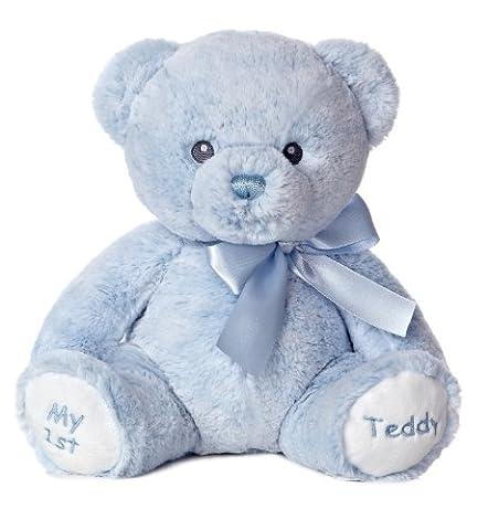Aurora World Baby My 1st Teddy Bear Plush, Blue, 12