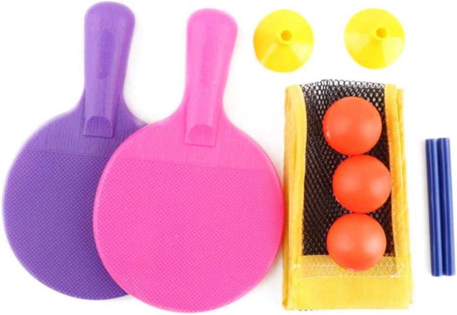 WJTHH Juego de Tenis de Mesa Infantil con Red portátil para Interiores y Exteriores, Juego de Entrenamiento de Ping Pong, Raqueta de Tenis de Mesa de PE, Red de Ping-Pong RETR