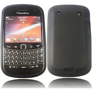 Silicona Caso Cubrir Concha Para Blackberry Bold Touch 9900 9930 / Black