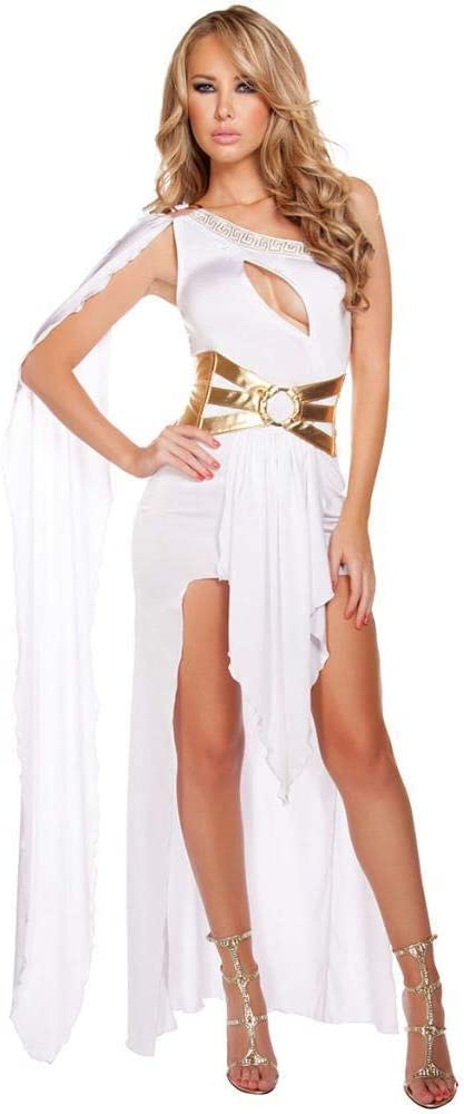 WWAVE Disfraz de Halloween para Mujer de Mujer, un Hombro, Diosa ...