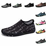 Johnlouise Womens and Mens Water Shoes Barefoot Quick-Dry Aqua Slip On for Summer Beach Swim Surf Yoga Exercise
