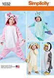 Simplicity Creative Patterns US1032A Toddlers Animal Costumes, Size A (1/2-1-2-3-4)