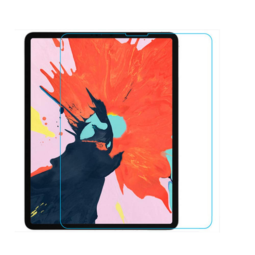 Screen Protector for New iPad pro 12.9 Inch 2018 [3rd Generation], Zentop Tempered Glass Screen Protector, Apple Pencil Compatible/Anti-Scratch (Compatible with Face ID).