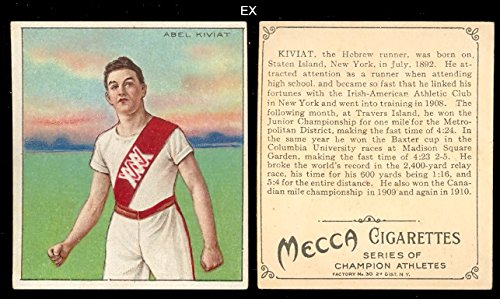 1910 T218 Champion Athletes (Miscellaneous) Card# 31 abel kiviat Ex Condition