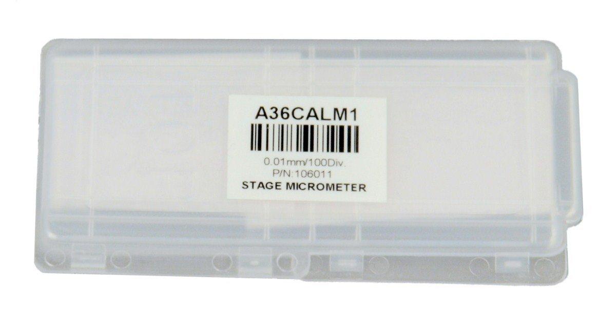 0,01 mm OMAX Mikroskop-Kalibrierungsschieber