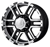 Ion Alloy 179 Black Wheel with Machined Face and Lip (20x9''/6x139.7mm)