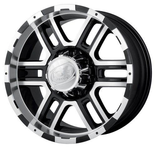 Ion Alloy 179 Black Wheel with Machined Face and Lip (18x9''/8x170mm) by ION