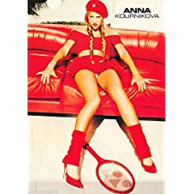 Anna Kournikova Red Couch Celebrity Female Athlete Sports Tennis Icon Poster Print 22 by 34