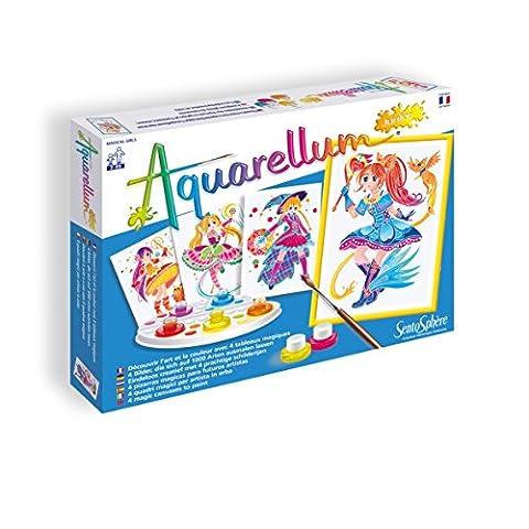 SentoSphere Aquarellum - Fashion Design Magical Girls - Arts and Crafts Watercolor Paint Set - Fashion Design Set