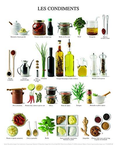 Seasonings Gew/ürze Atelier Nouvelles Images Affiche 24x30 cm Les condiments