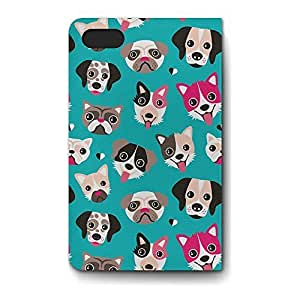 Leather Folio Phone Case For Apple iPhone 4/4S Leather Folio - Puppy Party Soft Cover by lolosakes