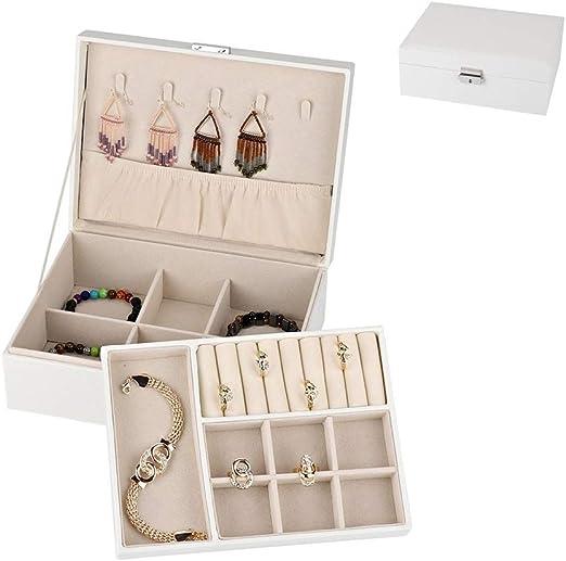 LHZHG Caja joyero pequeña Caja de almacenaje para Viaje Estilo ...