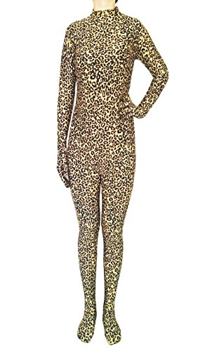WOLF UNITARD Lycra Spandex Bodysuit Dancewear Medium Leopard (H And M Fancy Dress)