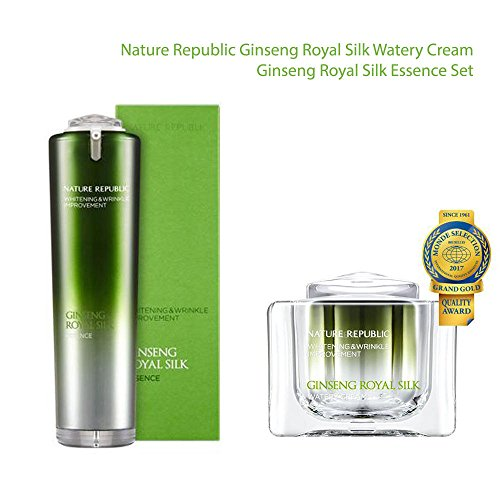 - Nature Republic Ginseng Watery Cream 60ml & Ginseng Essence 40ml Set/Brightening and Wrinkle Care
