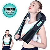 Atsuwell Shiatsu Neck and Shoulder Massager with Heat & Hands Free Belt, Deep