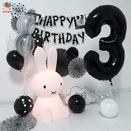 Tellpet Black Number 0 Balloon 40 Inch