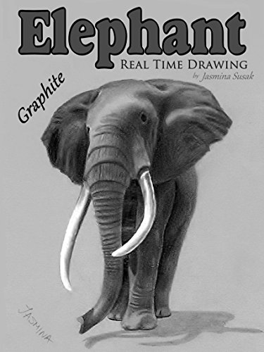 Elephant Real Time Drawing by Jasmina Susak by