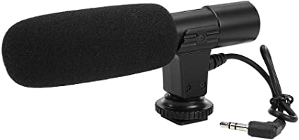 Compact Lightweight Highly Sensitive Powerful Battery with Windsheid for Camera Camcorder Interview Recording Taidda Portable Condenser Microphone