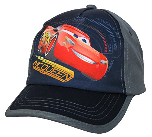 Racing Baseball Cap Hat (Disney Cars Little Boys Toddler Lightning McQueen Baseball Hat)